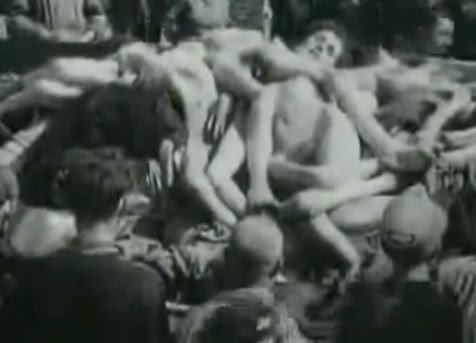 Bergen-Belsen, hips of dead bodies on                               a trailer (12min. 54sec.)