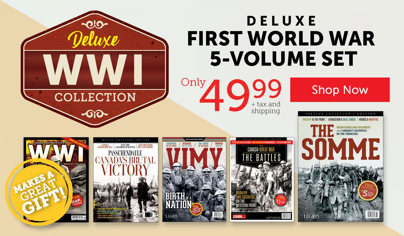 WW I Collection 5-Volume Set – Only $49.99!