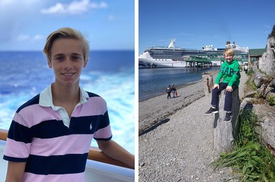Conoce a los huéspedes jóvenes más viajados de Princess Cruises Guests Alexis Lavoie (izquierda) y Wyatt Wilkinson (derecha)