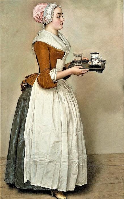 Шоколадница    1743-1745     82.5 х 52.5   пергамент, пастель   Дрезден, Картинная галерея старых мастеров (437x700, 100Kb)