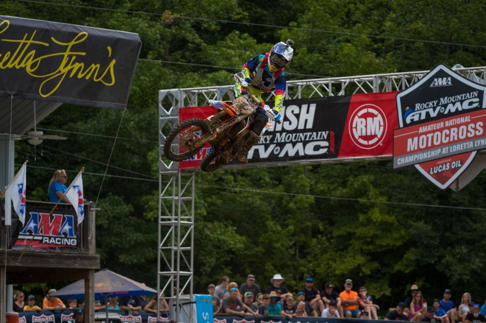 Bennick came away with the 85cc (10-11) Limited moto one win.
