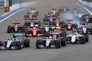 Formula One racers twisting through a course at the 2015 Russian Grand Prix in Sochi. Formula One's viewership in the United States has grown 40 percent since 2013.