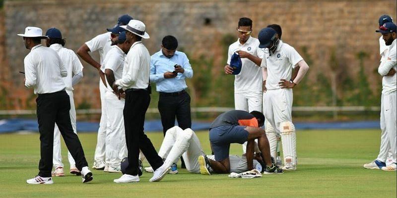 Priyam Garg was injured during the ongoing Duleep Trophy 2019.