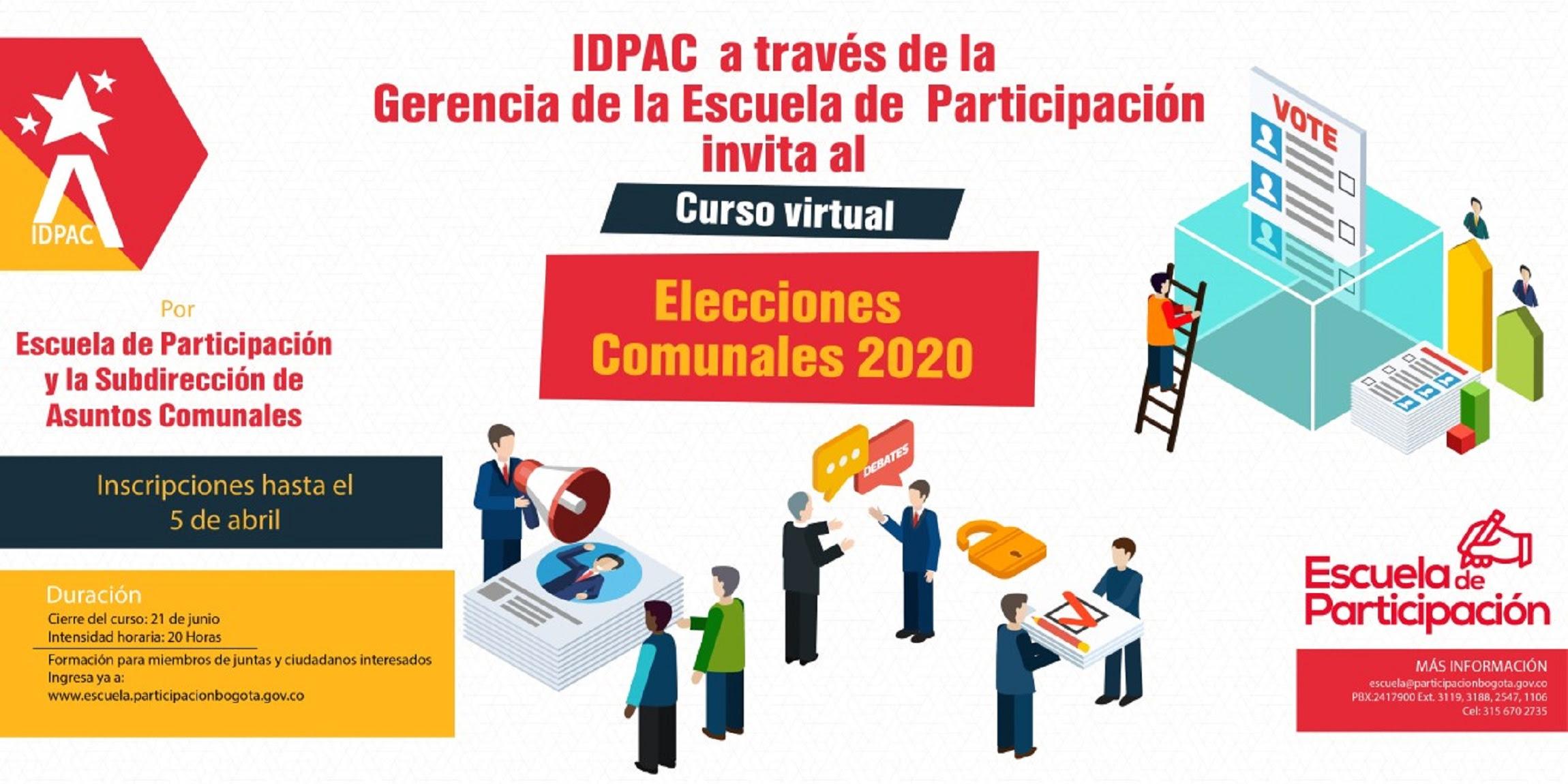 Abiertas inscripciones del curso virtual 'Elecciones comunales 2020'