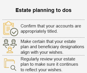 Estate planning to dos