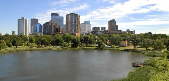 Skyline over Loring Pond