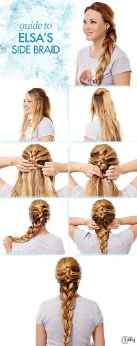 Guide to Elsa's Side Braid - My Kids LOVE Frozen, Do Yours? - www.MePlus3Today.com #zulily