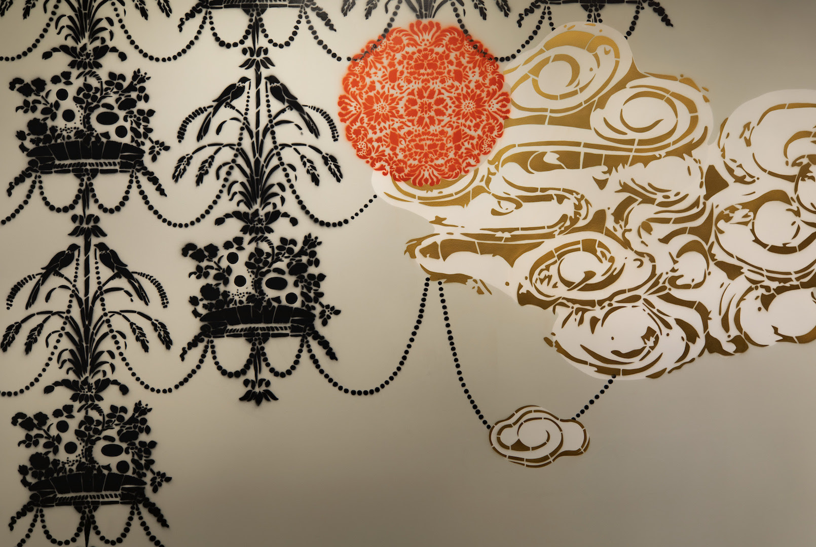 Detail from artist Vanessa Platacis installation, Taking Place. © Peabody Essex Museum. Photography by Bob Packert.