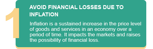 AVOID FINANCIAL LOSSES DUE TO INFLATION
