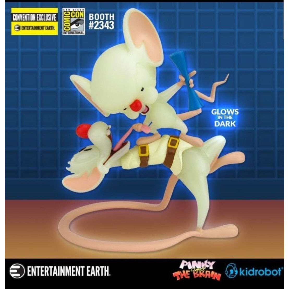 Image of Pinky and the Brain Radioactive Glow-in-the-Dark Vinyl Figure - SDCC 2019 Exclusive