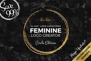 Feminine Logo Creator Circle Edition