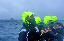 J/111 Blur sailing to Fastnet Rock