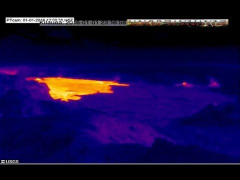 1/02/2016 -- Volcano watch -- Hawaii's Kilauea Lava Lake Rising -- Large flow at Pu'u O'o Caldera  Hqdefault
