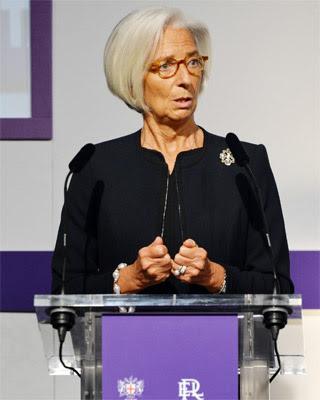 La directora gerente del Fondo Monetario Internacional, Christine Lagarde.
