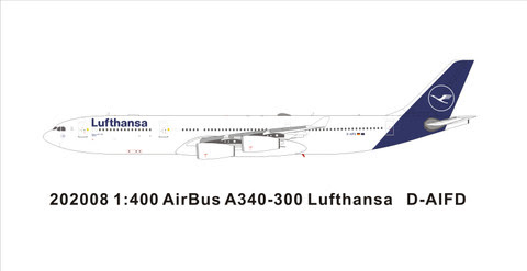 PM202008 | Panda Models 1:400 | Airbus A340-200 Lufthansa D-AIFD new colours | is due: May 2020
