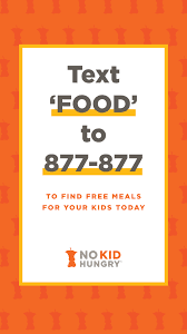 No Kid Hungry texting hotline