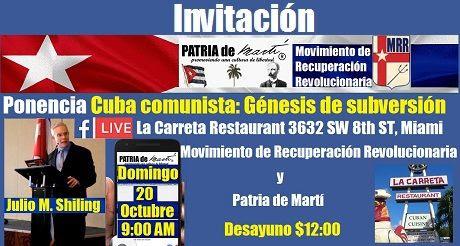 Invvitacion Ponencia Cuba Comunista Genesis De Subversion