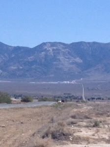 Headed towards Lucern Valley. The twisty road up the mountain is Hwy 18 which takes you to Big Bear Lake