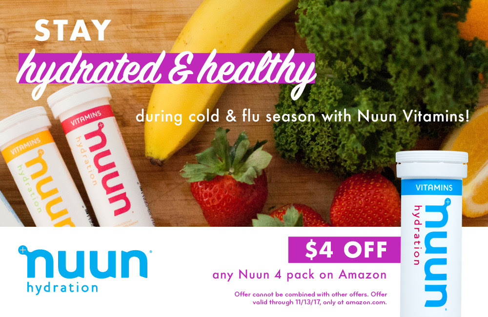 $4 off any Nuun 4 pack on Amazon!