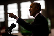 President Obama giving a speech at MacDill Air Force Base in Tampa, Fla., on Tuesday.