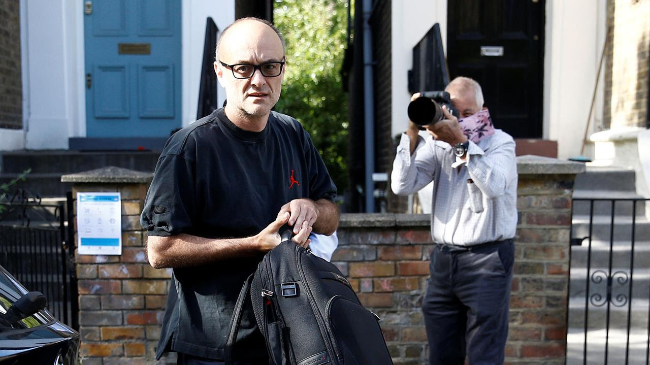 Dominic Cummings, special advisor for Britain's Prime Minister Boris Johnson leaves his home in London, Britain, May 28, 2020.
