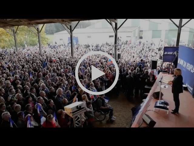 Réunion publique de Marine Le Pen à La Trinité-Porhoët (30/03/2017) | Marine 2017