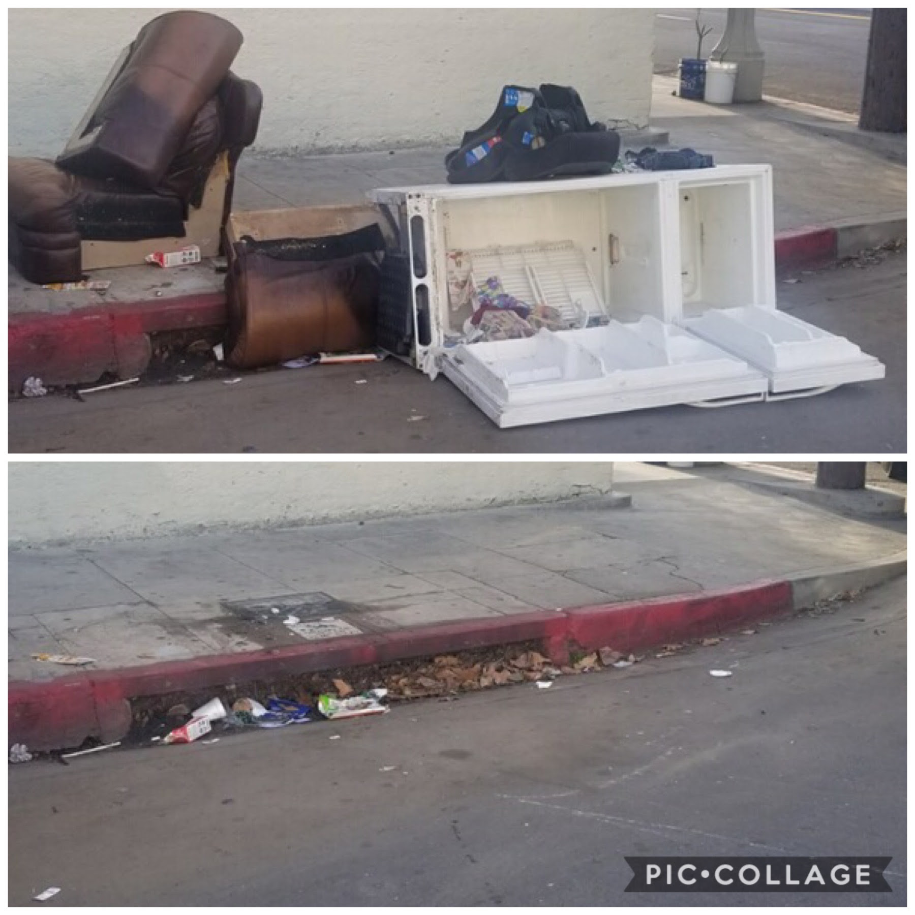 Pico Union Dumping Collection Before-After