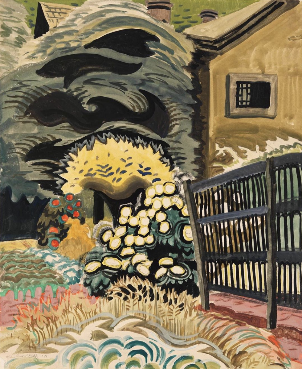 Charles Burchfield, Noontide in Late May, 1917.