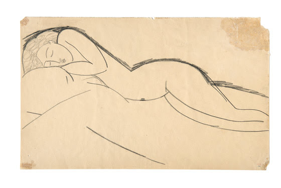 "Amedeo Modigliani, ""Nudo disteso"", © FAI"