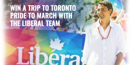 Win a trip to Toronto Pride to march with the Liberal team.