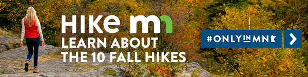 Ad to encourage fall hiking on the 10 best fall hikes in Minnesota