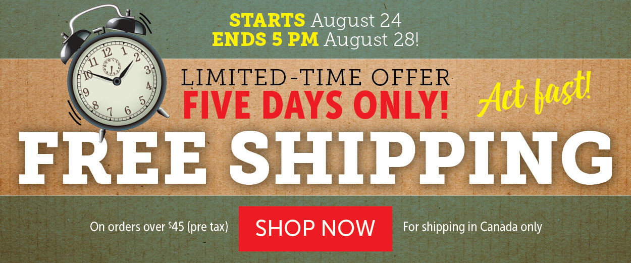 FREE SHIPPING! LIMITED TIME OFFER!