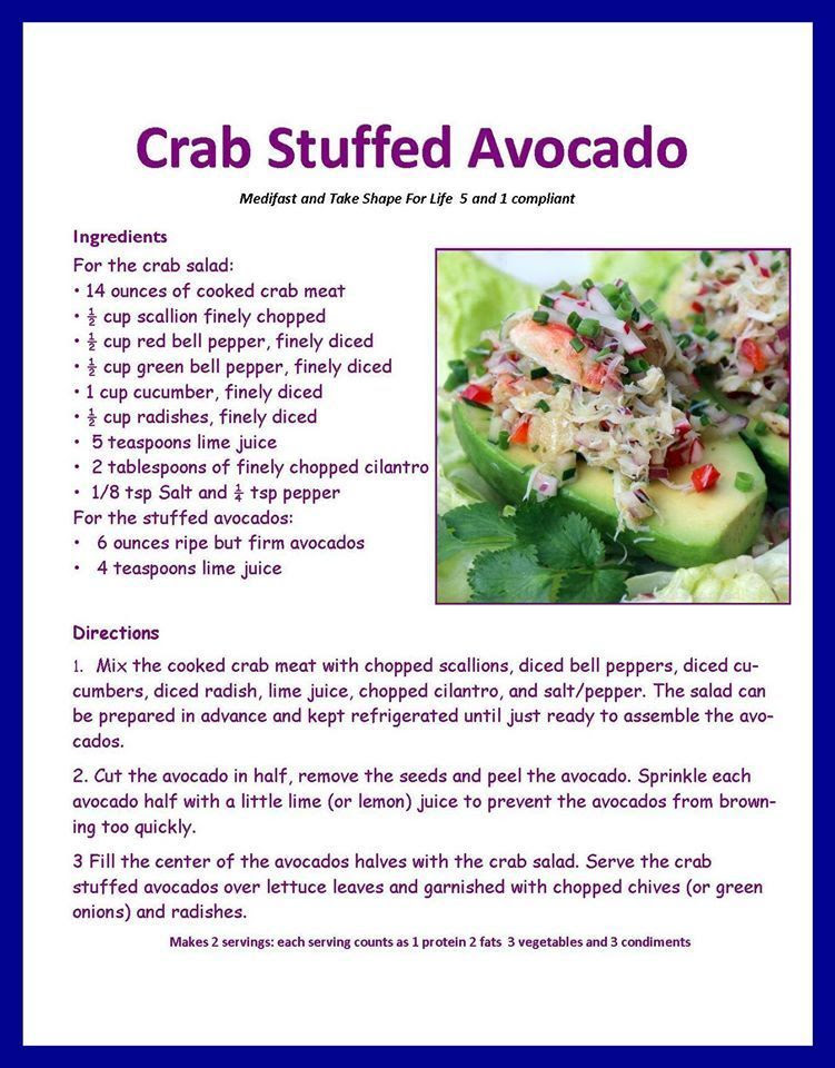 Crab Stuffed Avo