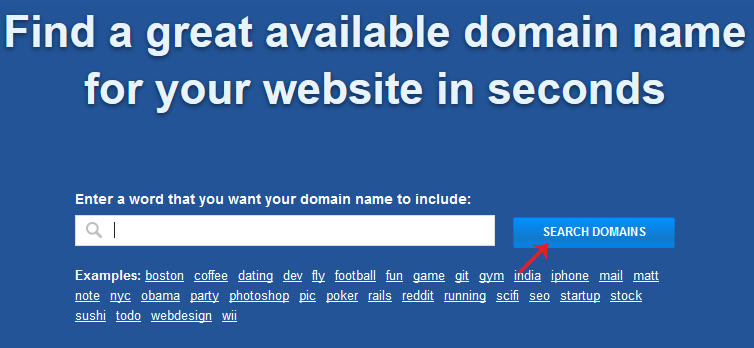 find a great available domain name for your website in seconds (lean domain search)