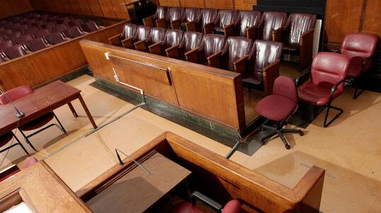 Empty New York State Supreme Court