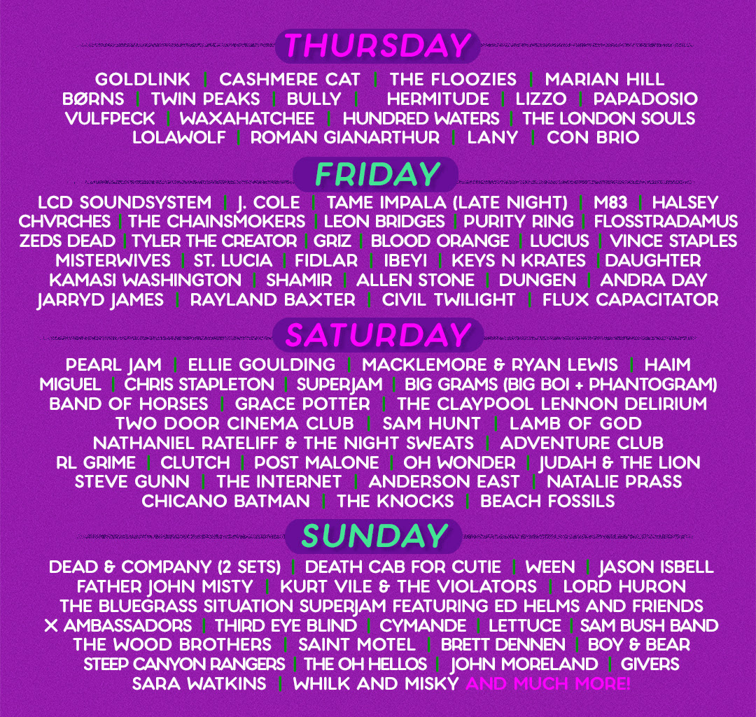 The By-Day Lineup is here!