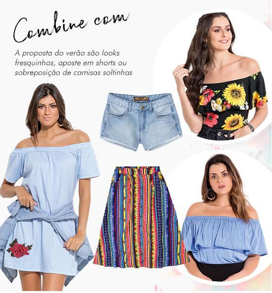 Combine com | A proposta do verão são looks fresquinhos, aposte em shors ou sobreposição de camisas soltinhas