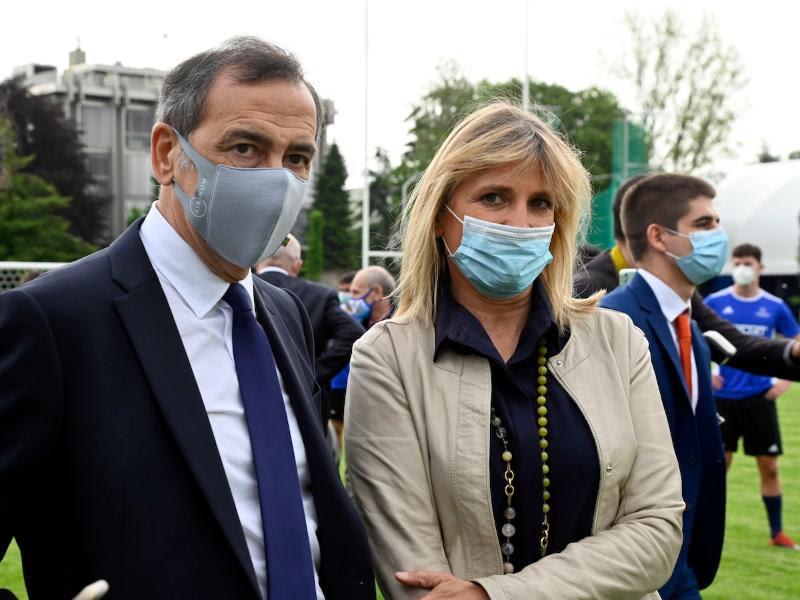 Il Sindaco Giuseppe Sala con l'assessora Roberta Guaineri