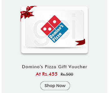 Dominos Pizza Gift Voucher By ShopClues @ Rs.455