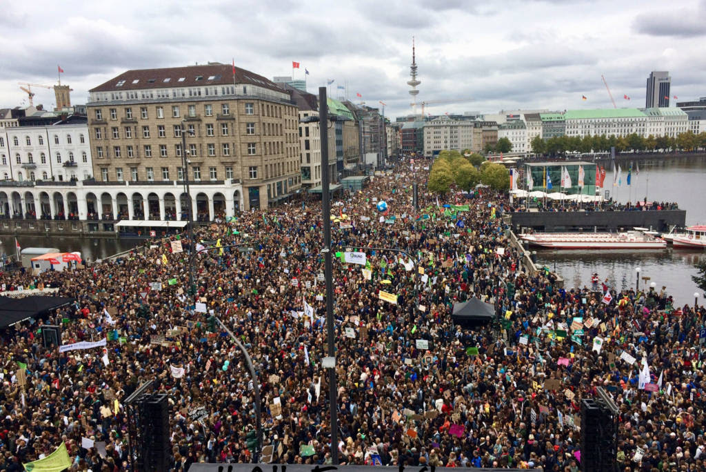 Millions march for climate action in Hamburg, Germany