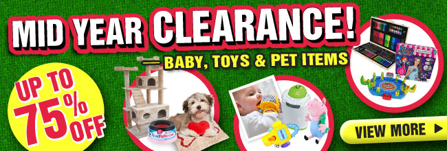 Mid Year Clearance Up to 75% OFF Baby, Toys & Pet Items at Crazysales.com.au