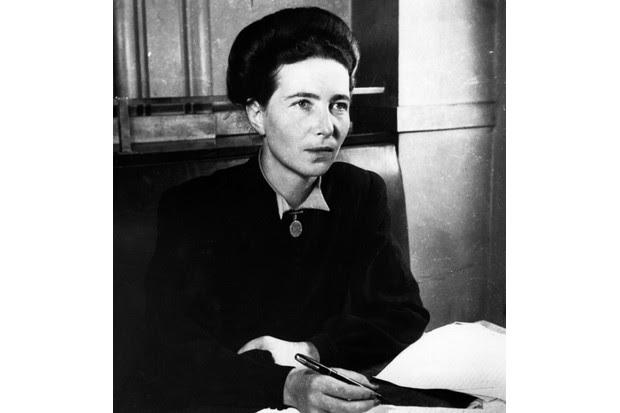 Simone de Beauvoir. (Photo by Hulton Archive/Getty Images)