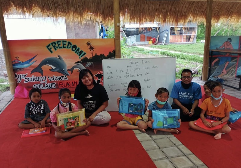 At the Umah Lumba Education Center, people of all ages can learn about the importance of marine conservation