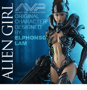 HOT TOYS AVP ALIEN GIRL