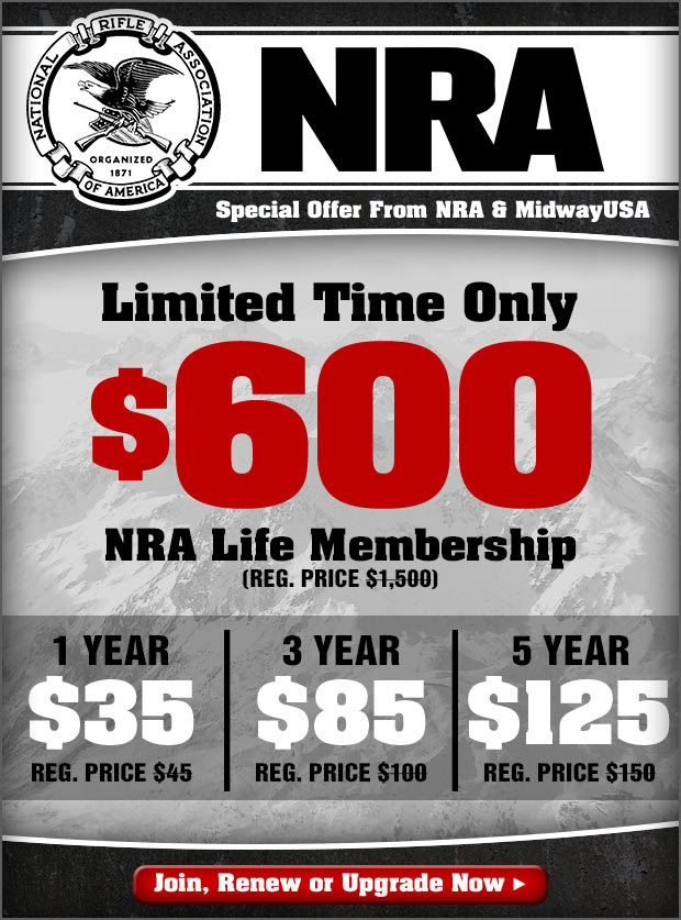 Special Offer on NRA Memberships! Limited Time Only