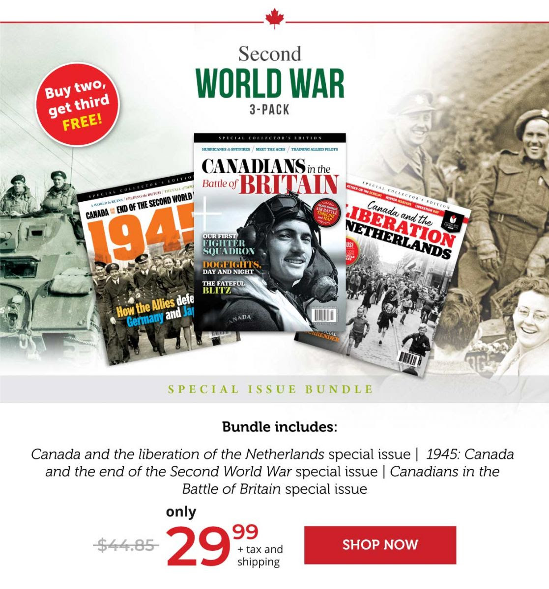 Canada's Ultimate Story - Second World War 3-Pack