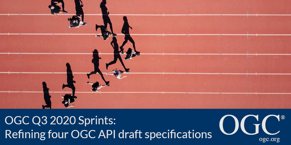 Banner for the Q3 2020 OGC API Sprints