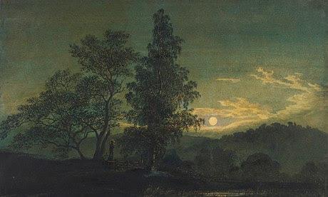 El paisaje de Caspar David Friedrich de luna (1808) - parte de un diálogo de la Galería Courtauld con