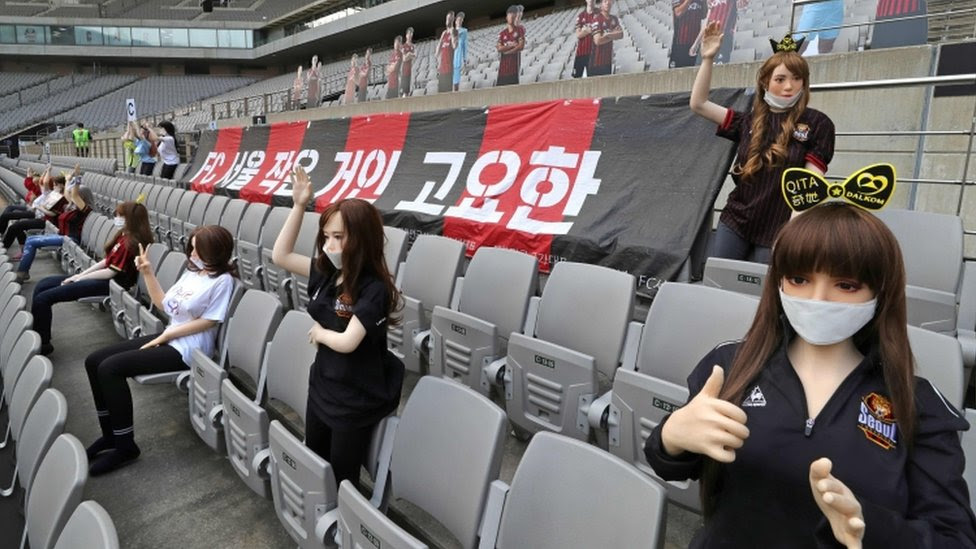 Coronavirus football: FC Seoul apologises for 'sex dolls' in stands