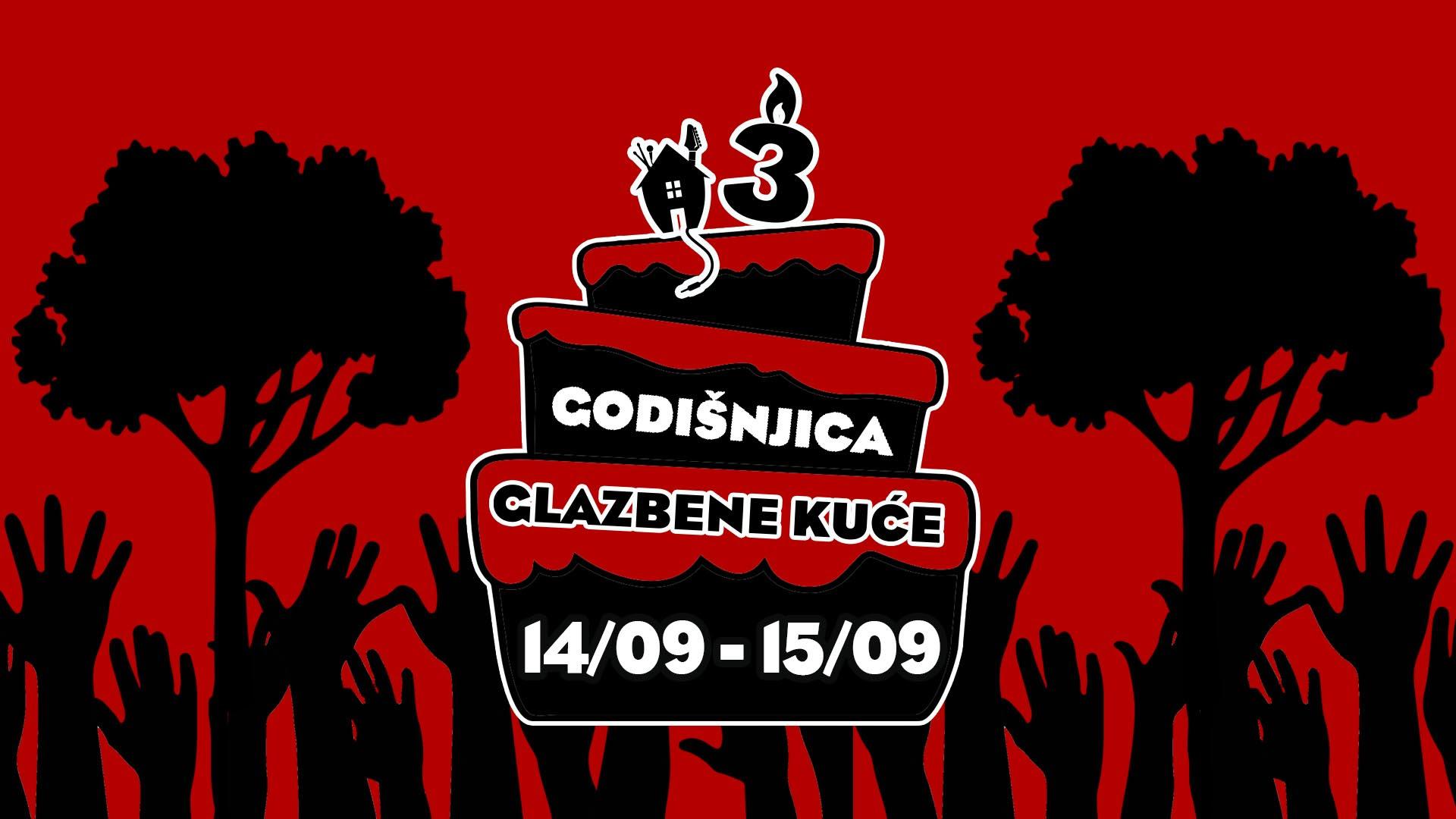Glazbena kuca open air 14 i 15 rujan Bundek Zagreb